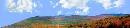 Picture of Autumn in crawford notch state park nh left