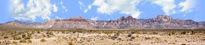 Picture of Desert mountains nevada with desert floor right