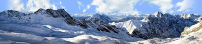 Picture of European alps in winter left