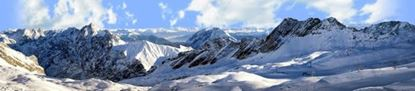 Picture of European alps in winter right