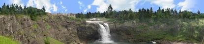Picture of European waterfall left