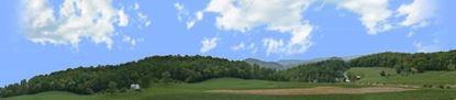 Picture of Farm in viginia blue ridge mountains mountains left